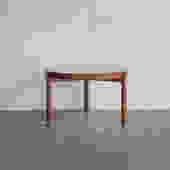 Bamboo Glass-Top Coffee Table