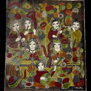 1950s Tile Art by French Dodik Segou