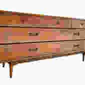 LANE Acclaim Mid Century Modern WALNUT Credenza / DRESSER by CIRCA60