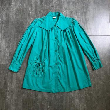 1930s 1940s smock top . vintage green top by BlueFennel