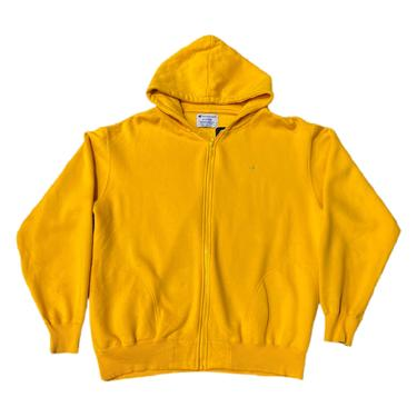 (XL) Champion Yellow Zip Up Sweater 083121 LM