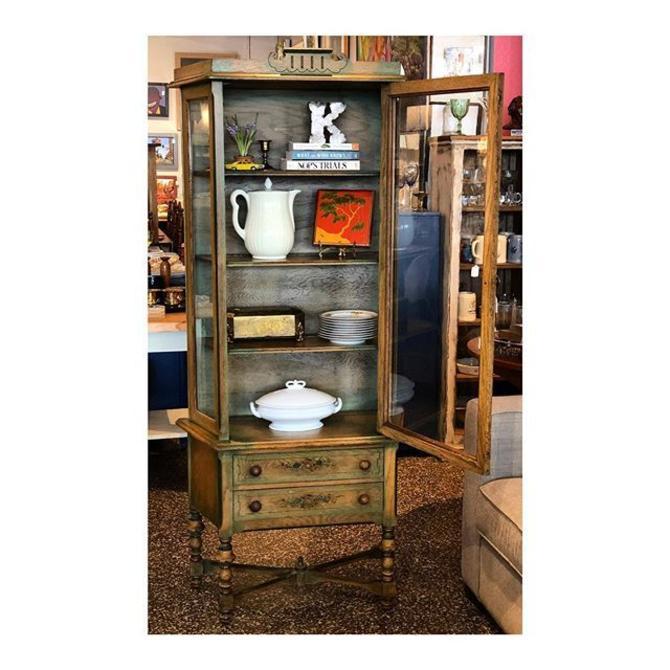 Farmhouse Glass Display Cabinet (13 deep X 31 wide x 69 tall) //