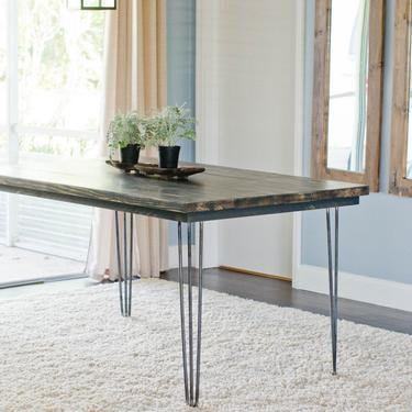 Hairpin Leg Dining Table, Industrial Dining Table, Farmhouse Dining Table, Rustic Dining Table, Hairpin Table by ArcherHomeDesigns