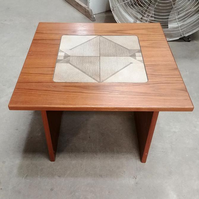 Mid Century Modern Teak End Table by Gangso