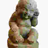 Chinese Oriental Stone Sitting Baby Kid Figure cs1924E by GoldenLotusAntiques