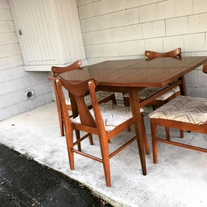 Midcentury Dining Table with Leaf
