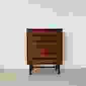 1960s Nils Jonsson Walnut Tallboy Dresser