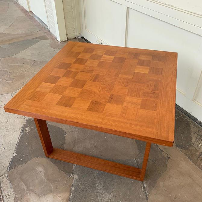 France & Son Teak Chess Table