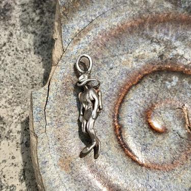Vintage Silver Pendant Scuba Diver Charm Retro Estate Jewelry Diving Ocean Lover by FlyTimesVintage