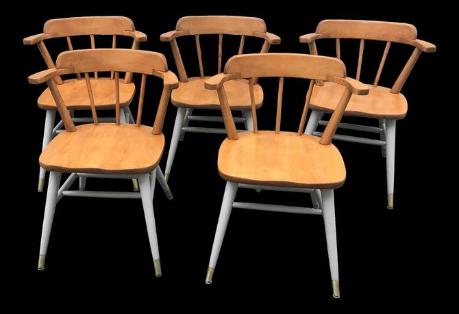 Mid Century Dining Chairs by Astra Bentwood Co. by QuaboagValleyAntique