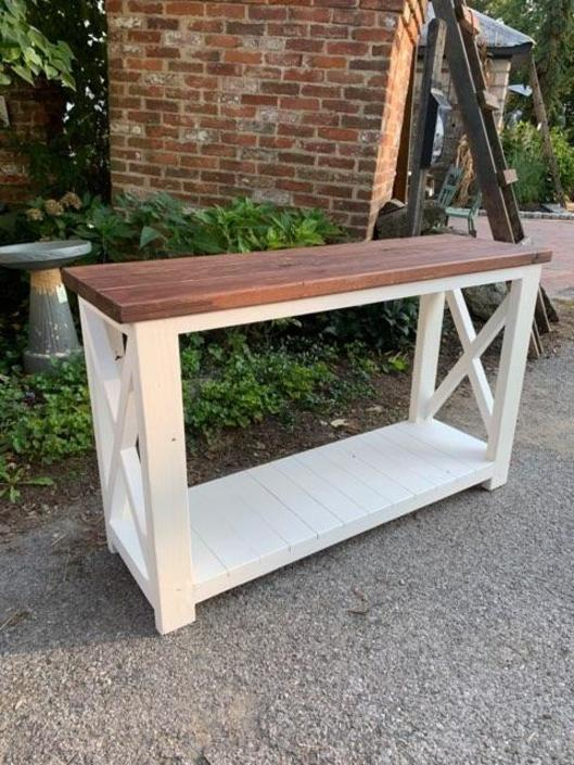 Handcrafted Console by Local Artisan