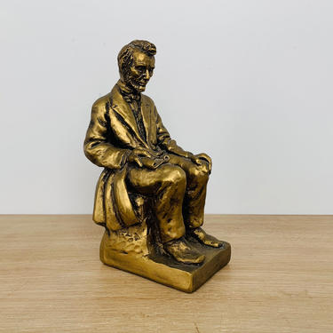 Vintage Abraham Lincoln Statue Bookend by Universal Statuary Corp circa 1963 by DelveChicago