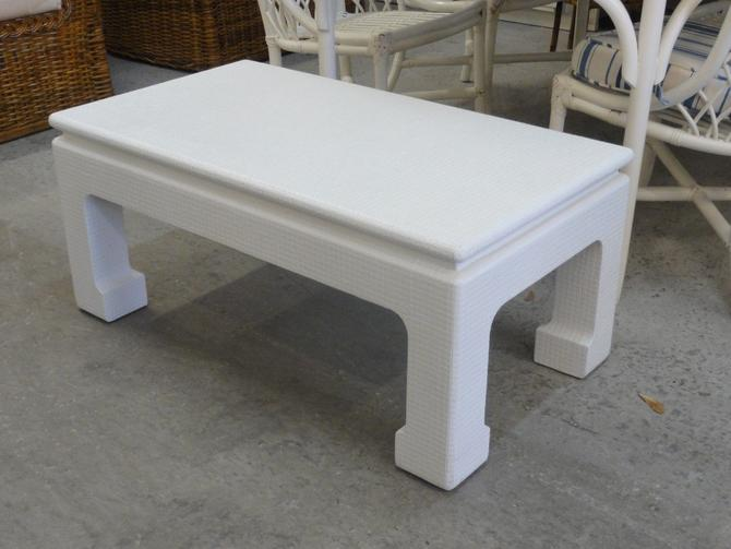 Linen Wrapped Ming Style Coffee Table