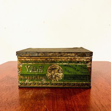 Vintage Marburg Bros Yale Mixture Tobacco Tin by OverTheYearsFinds