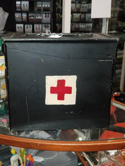 Vintage empty Ammo Box First Aid Kit. by MOBvintage