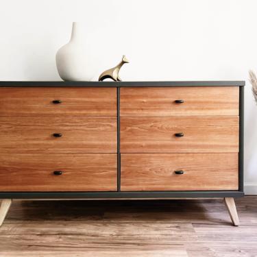 Mid-Century Modern Matte Grey Dresser by madenewdesignct