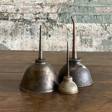 Vintage Thumb Oiler Lot of 3 Rustic Garage Decor by NorthGroveAntiques