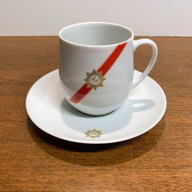 Vintage Rosenthal China TWA Royal Ambassador Airline China Tea Cup Coffee Cup and Saucer by OverTheYearsFinds
