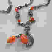 Coppini Peruzzi or Cini Florentine Carnelian Necklace by LegendaryBeast