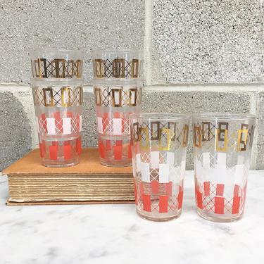 Vintage Drinking Glasses Retro 1960s Federal Glassware + Mid Century Modern + Set of 6 Matching + Tumblers + Drinkware + MCM + Kitchen Decor by RetrospectVintage215