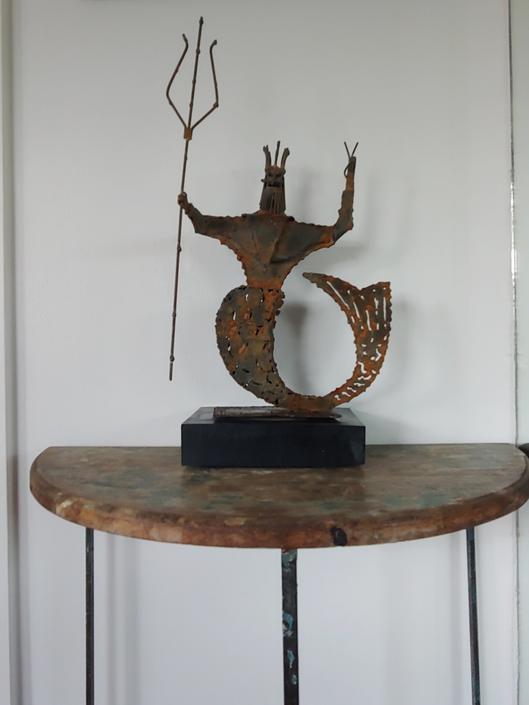 Mid Century Modern Brutalist Sculpture by Jack Hansen California c. 1960's by ModandOzzie