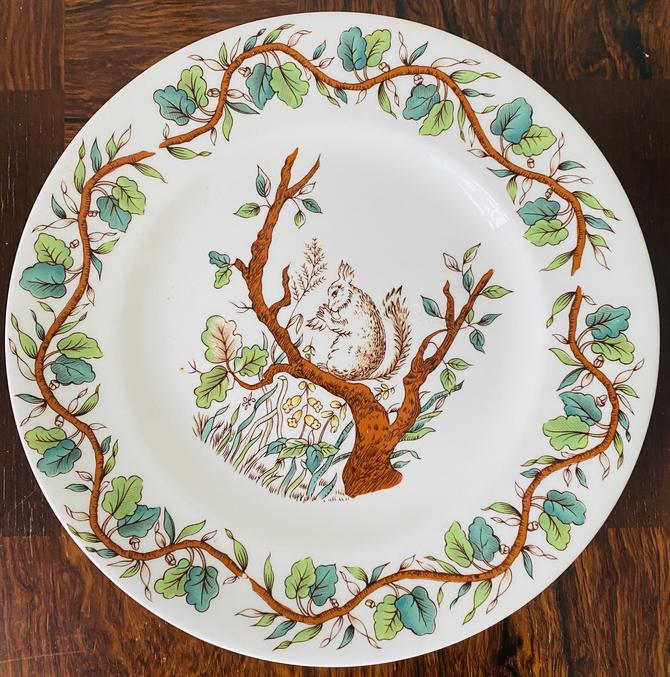 """Tiffany & Co """"Squirrel"""" Child's Plate by Johnson Brothers"""