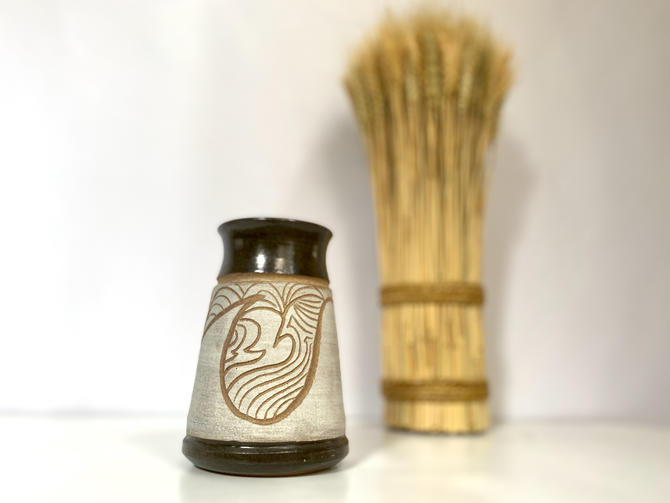 Vintage Studio Pottery Vase | 1970s Stoneware Pottery Vase | Retro Ceramic Stoneware Vase | 1970s Earthenware by TheBrassFig