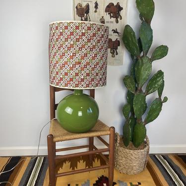 Vintage Globe Shaped Large Round Light Green Lamp by DesertCactusVintage