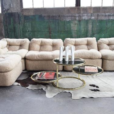 Minimalist POSTMODERN Modular 5 piece sofa sectional Post Modern Modernist WOW by CatchMyDriftVintage