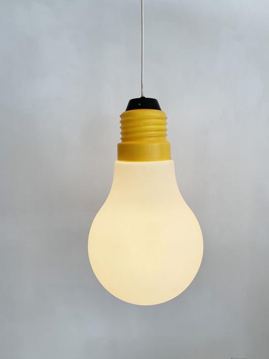 1970s Ingo Maurer Plastic Bulb Bulb Lamp