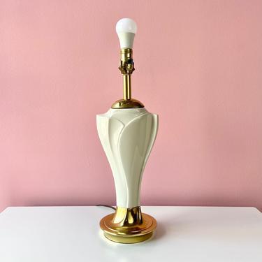 Stiffel Ceramic & Brass Table Lamp by BarelaVintage