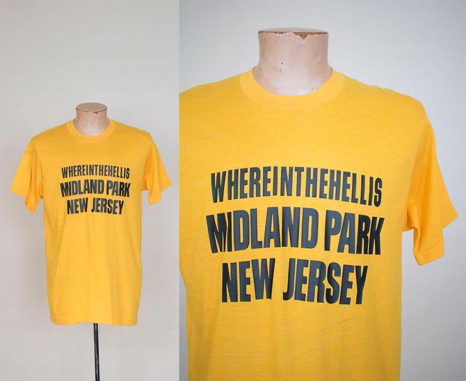 1970s Vintage Tshirt / Vintage Tee / Vintage New Jersey Tshirt / Midland Park NJ Tee / Sopranos Tshirt / Midland Park New Jersey Tshirt by milkandice