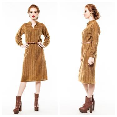 Vintage Missoni Dress/ Brown Tweed Dress/ Neiman Marcus/ 70s striped dress by 2QueensVintage