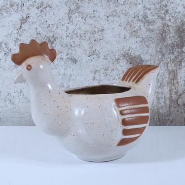 Hen / Chicken Ceramic Planter by David Stewart for Lion's Valley by MostlyMidModern