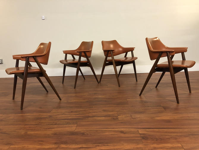 Thonet Walnut Armchairs 1970s by Vintagefurnitureetc