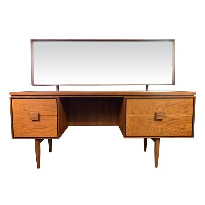 Vintage Danish Mid Century Modern Teak Vanity Desk by Kofod Larsen for G Plan by AymerickModern