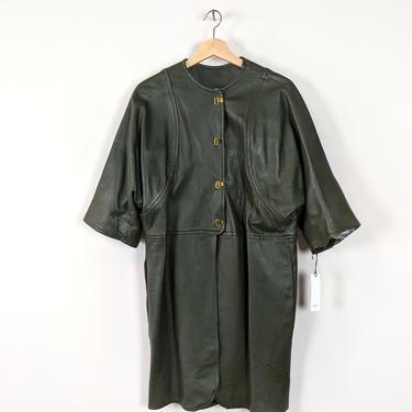 cash'n   vintage 1960s leather cashin style coat   vtg 60s jacket   medium/large   m/l   6/8 by danevintage