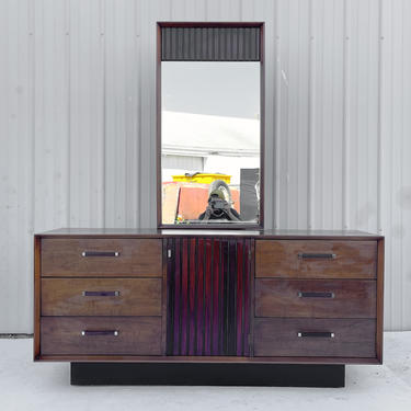 Mid-Century Lane Dresser With Mirror by secondhandstory