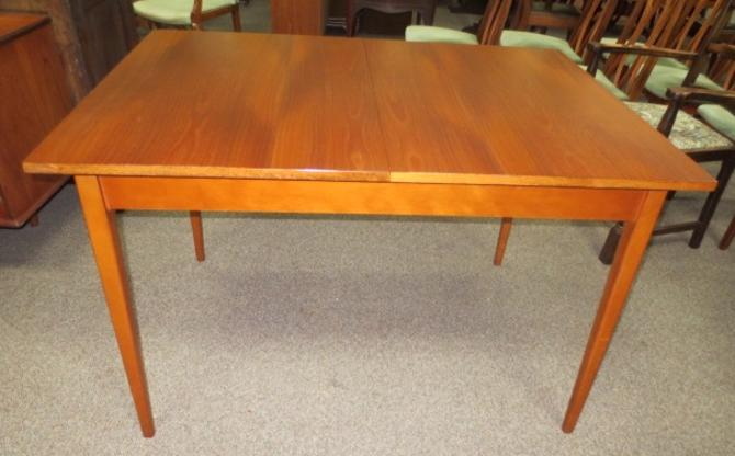 Q414 Walnut Dining Table. Mid Century
