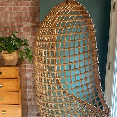 Rattan Hanging Chair - Vintage by JulieSimpleRedesign