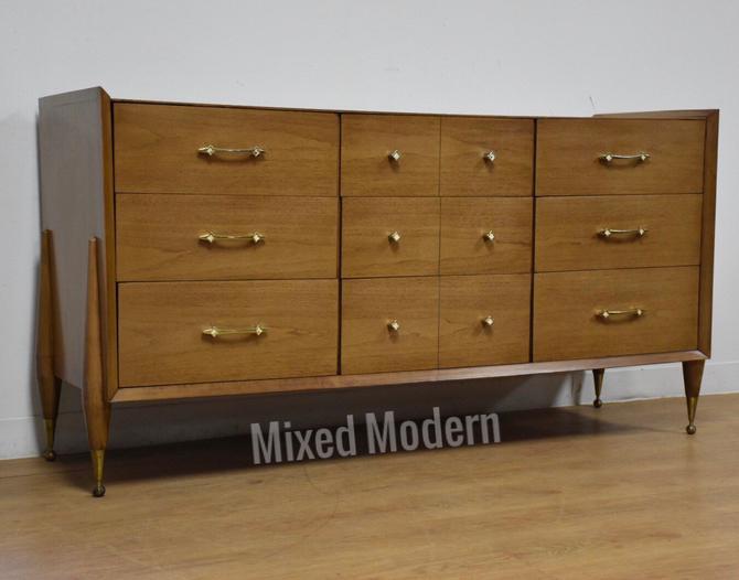 Kent Coffey Auburn Walnut Dresser by mixedmodern1