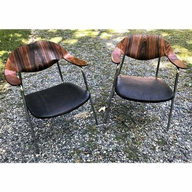 Plycraft Chairs George Mulhauser  Mid Century Walnut and Rosewood Chairs