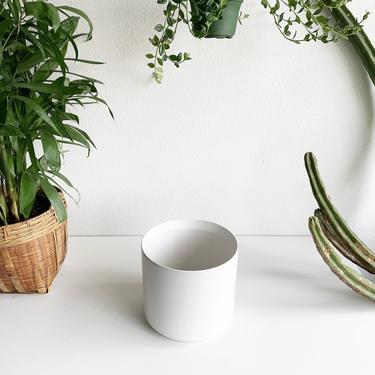 "12"" Pot/Planter-White Ceramic Cylinder"