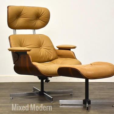 Plycraft Walnut Lounge Chair & Ottoman by mixedmodern1