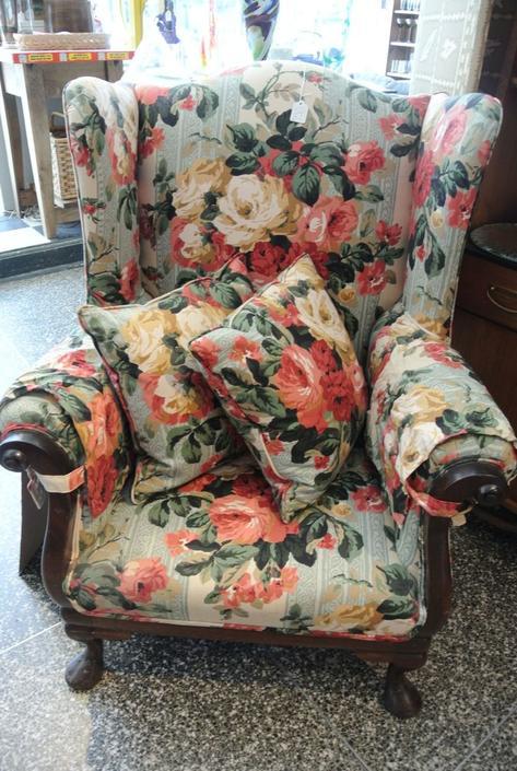 Floral armchair. $150.