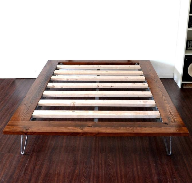 Platform Bed On Hairpin Legs California King Size Minimal Design NEW LOWER PRICING by CasanovaHome