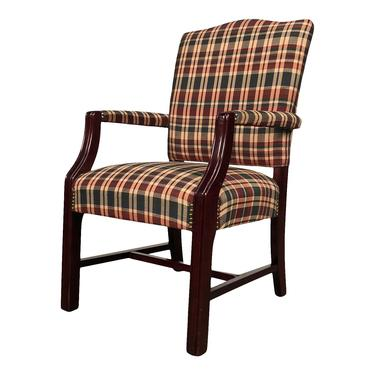 Set Of 5 Mahogany Arm Chair With Upholstered Seat & Back by modernmidcenturyfurn