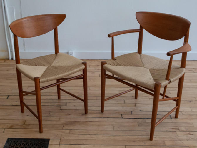 Set of Six Peter Hvidt Teak Dining Chairs