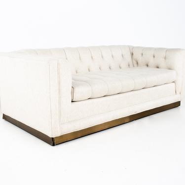 Milo Baughman Style Mid Century Tufted Setee Sofa - mcm by ModernHill