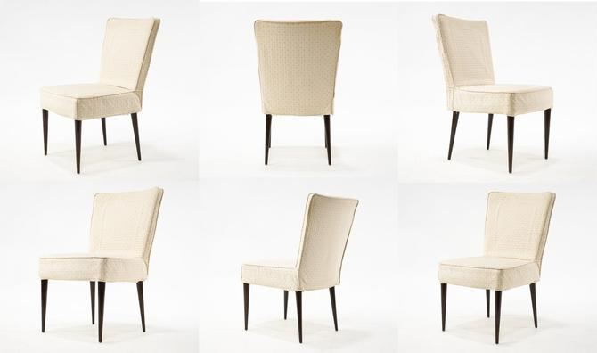 Set of 6 WK Möbel Off-White Dining Chairs
